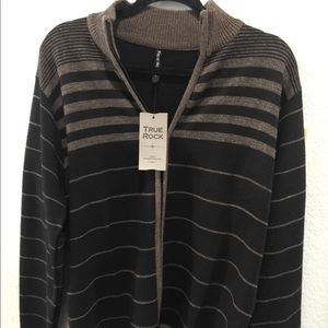TRUE ROCK Sweaters - NWT True Rock Zip cardigan black and taupe